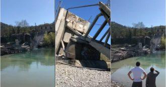Massa Carrara, crollato ponte ad Aulla: Vigili del fuoco e soccorritori al lavoro. Le prime immagini