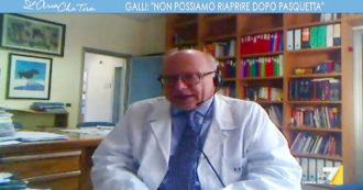 """Coronavirus, infettivologo Galli: """"Riaprire il 14 aprile? Assolutamente no. Test sierologici unica risorsa per screening di massa reale"""""""