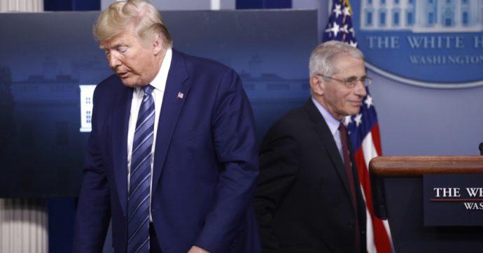 """Coronavirus, il Washington Post: """"Trump chiese all'immunologo Fauci perché non si potesse lasciare che il virus inondasse il paese"""""""