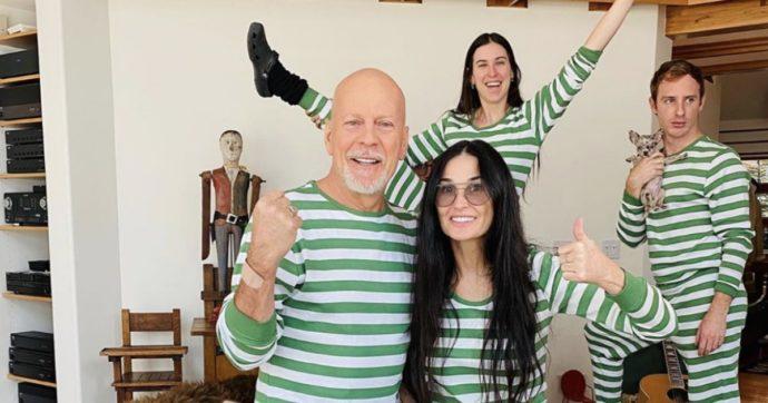 Bruce Willis e Demi Moore stanno passando insieme l'isolamento: le foto con le figlie