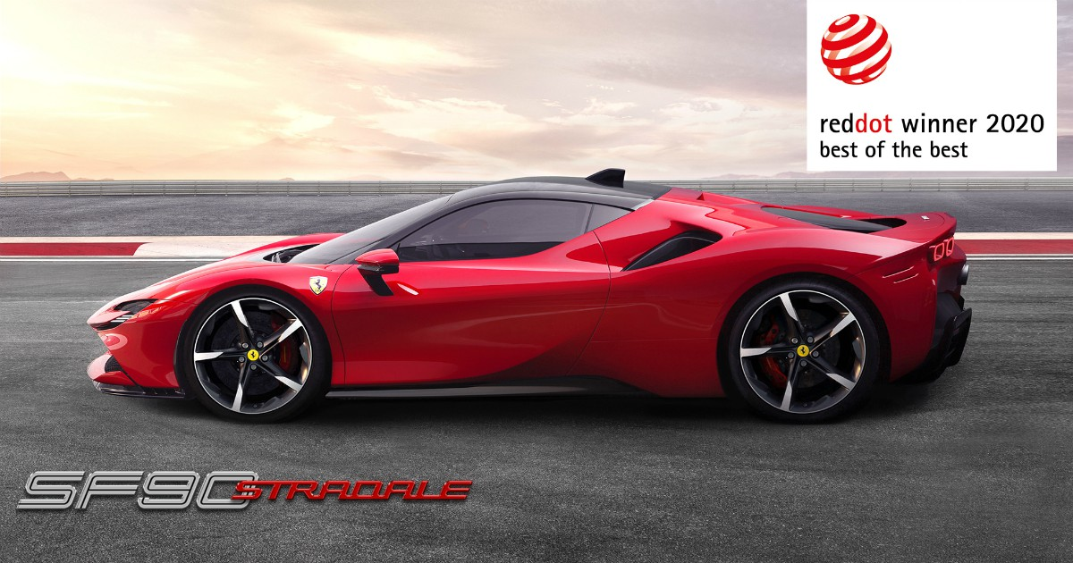 Ferrari, la SF90 Stradale vince il Red Dot Best of the Best Award. E Maranello raccoglie 1 milione di euro per l'emergenza Coronavirus