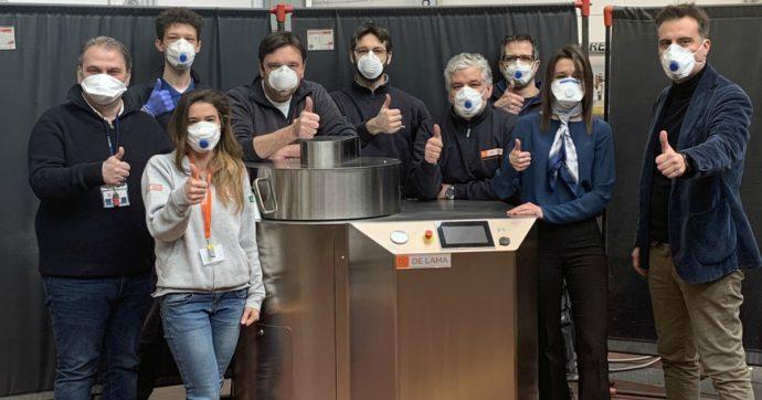 """Coronavirus, una macchina per decontaminare le mascherine: """"Primi test buoni. Vogliamo dare un contributo per tutti"""""""