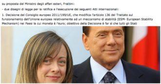 """Mes, Salvini e Meloni si chiamano fuori: """"Noi contro nel 2012"""". Ma ad approvarlo nel 2011 fu il governo con la Lega e Meloni ministra"""