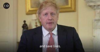 """Coronavirus, il video-messaggio di Johnson dopo la dimissione: """"Sistema sanitario mi ha salvato la vita. Stiamo a casa anche per loro"""""""