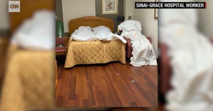 Coronavirus, a Detroit mancano posti in obitorio: cadaveri ammassati nelle celle frigorifere e distesi in stanze vuote