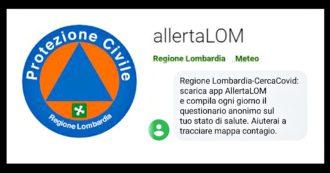 Coronavirus, la Regione Lombardia invia sms per chiedere di scaricare l'app della Protezione civile utile a mappare il rischio di contagio