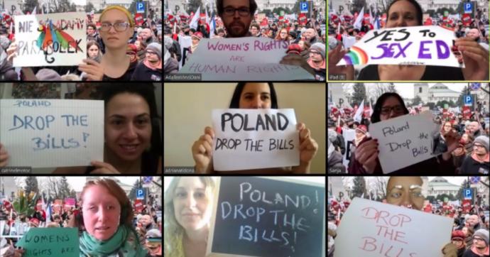 Polonia, marcia indietro su inasprimento della legge anti-aborto. Proteste a distanza di sicurezza