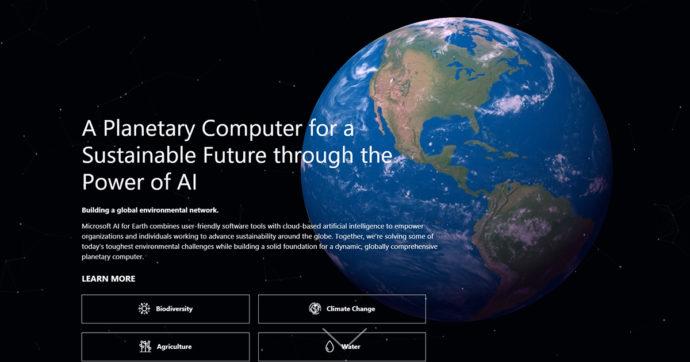 Microsoft Planetary Computer, la lotta per un futuro sostenibile passa da cloud e intelligenza artificiale