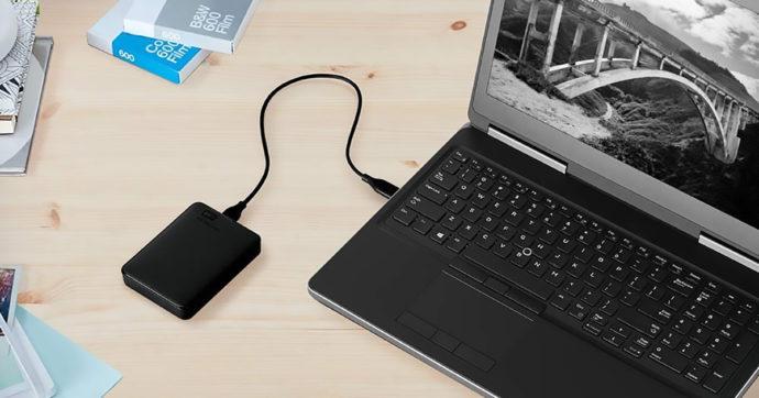 Western Digital Elements, hard disk esterno portatile USB 3.0 da 2 TB, su Amazon con sconto del 41%