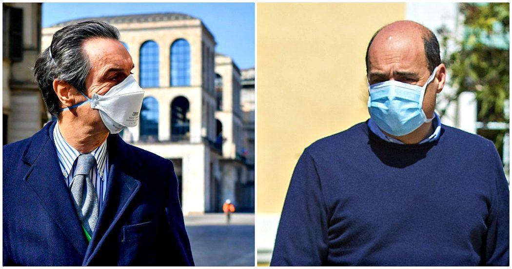 """Coronavirus, Fontana: """"Nel Lazio delibera simile alla nostra sulle Rsa, ma nessuna contestazione"""". Replica: """"Tutto falso, sono atti diversi"""""""