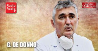 """Coronavirus, professor De Donno: """"Plasma unico farmaco, è molto più potente di un vaccino"""". E difende Ricciardi da attacchi politici"""