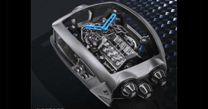 Bugatti Chiron Tourbillon, l'orologio-motore da 260 mila euro – VIDEO