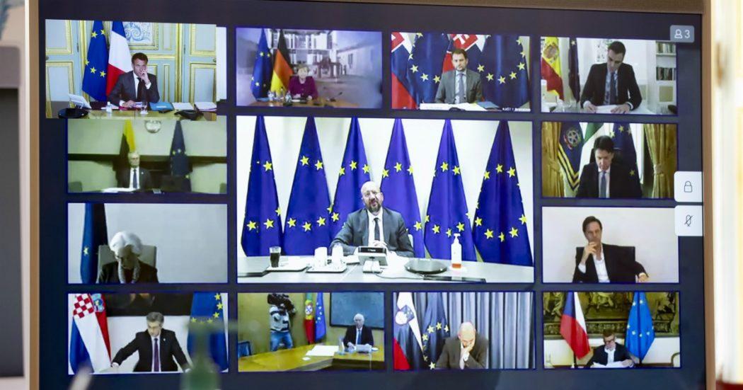 Coronavirus, intesa di massima dei leader Ue sul Recovery fund ma resta disaccordo su come dare gli aiuti. Mandato alla Commissione