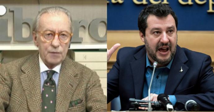 """Feltri contro Salvini: """"Ormai è incisivo solo quando va in tv per dire che sono un cog… L'unica all'altezza a destra è Giorgia Meloni"""""""