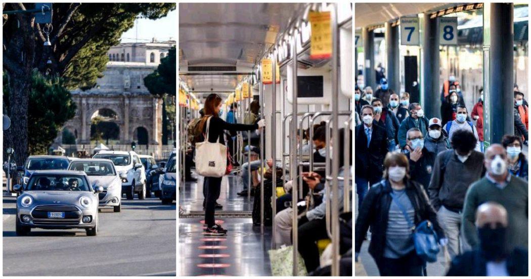 Fase 2, la diretta – Mezzi pubblici, parchi aperti e il ritorno verso il Sud: la situazione nelle città. Traffico in aumento, ma non ci sono criticità