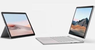Surface Go e Surface Book 3 ufficiali, tablet e portatile di casa Microsoft si rinnovano con più potenza