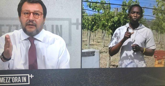 """Mezz'ora in più, Salvini: """"Ora scioperano i clandestini? Ma in che Paese viviamo"""". Il sindacalista Aboubakar Soumahoro: """"Metta gli stivali e venga nei campi con noi"""""""