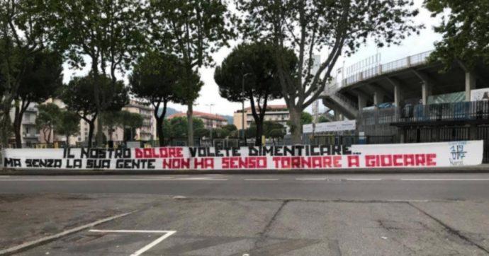 """Coronavirus, da Bergamo a Roma gli ultras contro la ripresa della A: """"Si ricomincia solo per interessi economici. Rispetto per i morti"""""""