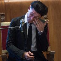 Foto Valerio Portelli/LaPresse 20-06-2019 Roma, Italia Cittadinanza onoraria al maestro Ezio Bosso Cronaca Nella foto: Ezio Bosso  Photo Valerio Portelli/LaPresse 20 June 2019 Rome, Italy Honorary citizenship to the master Ezio Bosso News In the pic: Ezio Bosso