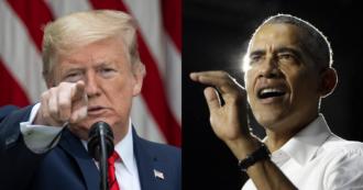 """Usa, Obama risponde all'accusa di tradimento di Trump: """"Ha un approccio meschino e disonesto"""""""