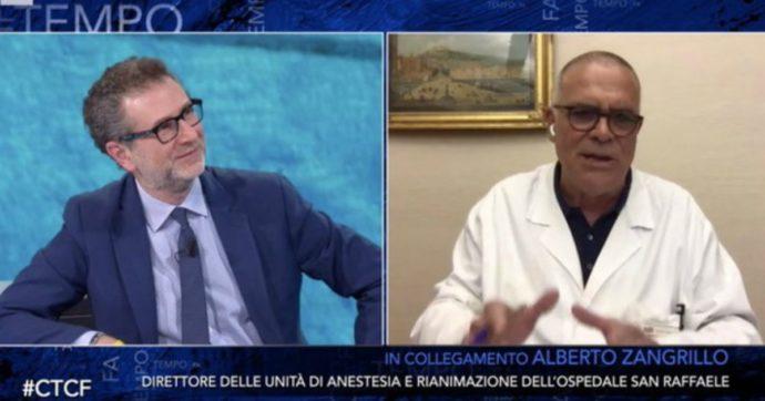 """Che Tempo Che Fa, Zangrillo: """"Distinguere chi parla dietro un computer da chi vede i malati"""". Interviene Burioni: """"Se credete che ce l'ha con me…"""""""