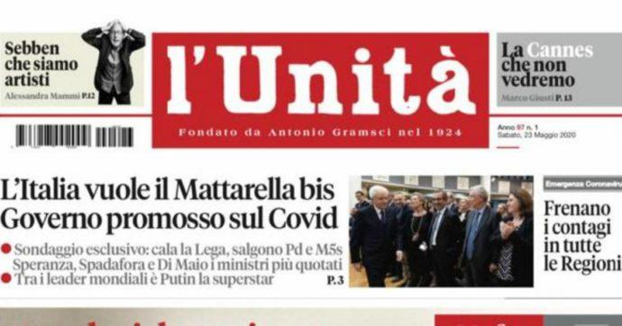 L'Unità torna in edicola per un giorno: titolo di prima e speciale sull'anniversario della strage di Capaci. Il direttore è Primo Di Nicola
