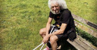 """Brian May, il chitarrista dei Queen rivela: """"Ho avuto un infarto, sono stato a un passo dalla morte con tre arterie ostruite"""""""