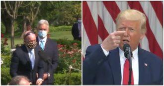 """Trump al giornalista che non vuole togliere la mascherina: """"Ok, vuole essere politically correct"""""""