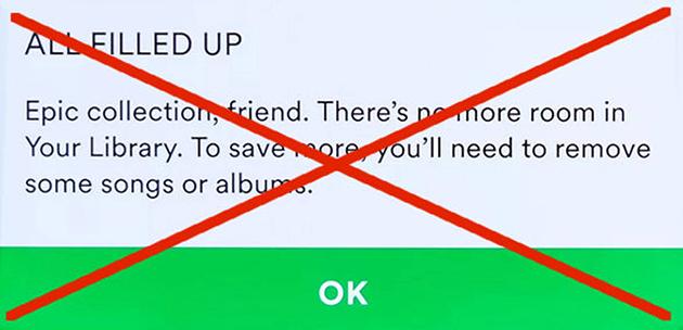 Spotify senza limiti: il servizio di streaming musicale ora