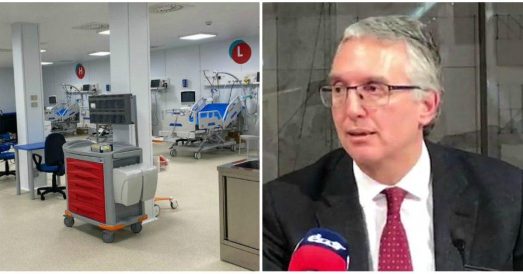 """Coronavirus, al Covid Hospital di Civitanova Marche due soli pazienti. Asl: """"Ne arriveranno altri 7"""". Ma nessun attuale ricoverato può essere trasferito. Ceriscioli: """"Medici precettati? Unico modo senza volontari"""""""