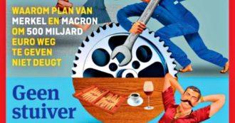 Ue, settimanale olandese fa copertina con il Nord Europa al lavoro contro il Sud in vacanza. Corrao (M5s): 'No a lezioni dal paradiso fiscale'