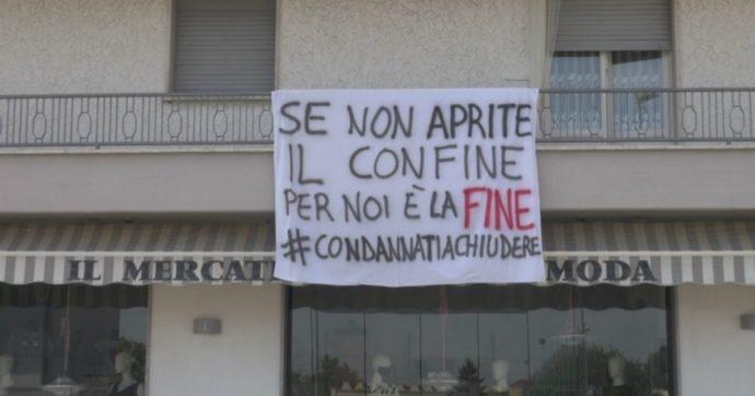 """Mobilità tra Regioni, i commercianti di Castelvetro Piacentino protestano: """"Se non riaprono subito i confini, noi chiudiamo"""""""