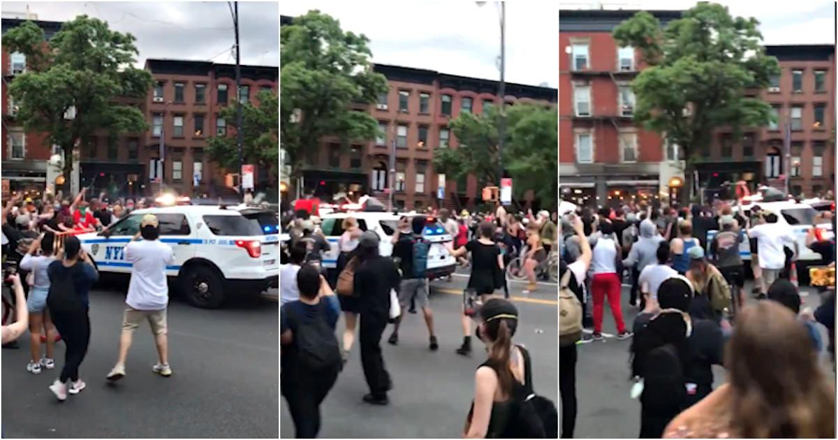 Floyd, suv della polizia investe i manifestanti a New York: aperta indagine