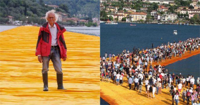 Christo morto: addio all'artista del The Floating Piers, la passerella sul lago di Iseo. Aveva 84 anni