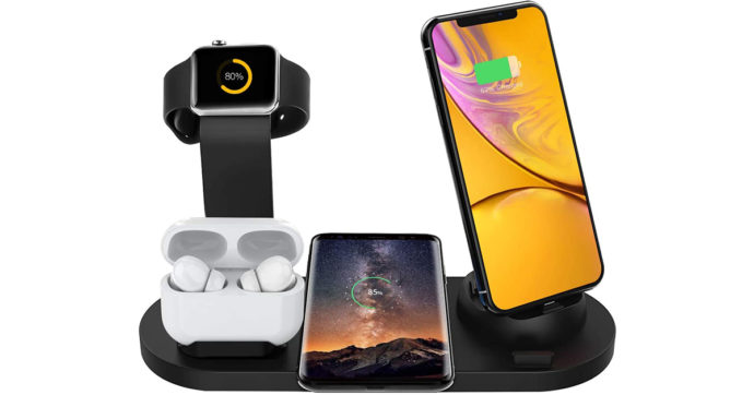 Base di ricarica 6-in-1 per dispositivi Apple e Android a 28 euro su Amazon