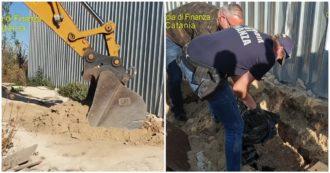 Sicilia, arrestato il re delle discariche Leonardi: la Guardia di finanza scopre un milione di euro sotterrato tra i rifiuti. Le immagini
