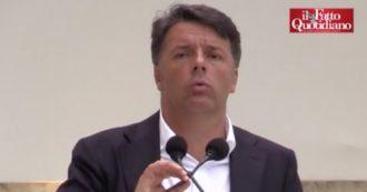 """Renzi: """"Tangentopoli? Il mio non era un giudizio storico. Ma era un sistema malato. Nessuno raccontava suicidi e storia dalla parte dei vinti"""""""