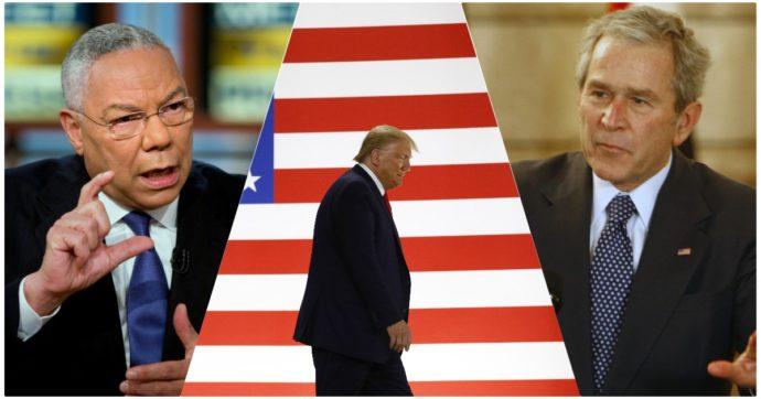 """Elezioni Usa, da Bush a Romney: anche parte dei Repubblicani scarica Trump. Powell: """"Voterò Biden, il tycoon è un pericolo"""""""