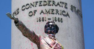Floyd, in Virginia imbrattate le statue degli eroi confederati e razzisti. Monumento al Generale Lee a breve rimosso
