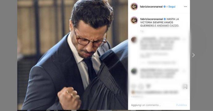 """Fabrizio Corona, la Cassazione stabilisce che non deve tornare in carcere e lui esulta: """"Vamos guerriero. E andiamo ca**o"""""""