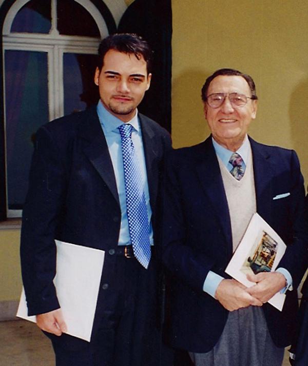 Igor Righetti con Alberto Sordi – Photo credit: Igor Righetti