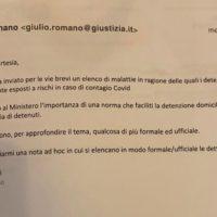 La mail di Romano a Starnini del 18 marzo 2020