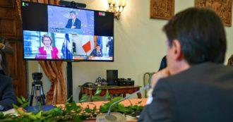 """Stati generali economia, primo giorno di incontri. I vertici Ue: """"Italia ha indicato la strada, ora riforme per ripresa duratura"""". Conte: """"Puntiamo su green e inclusione. Appello alle opposizioni: diano una mano"""""""