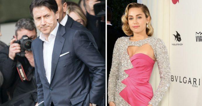 """""""Miley Cyrus 'bimba' di Conte"""": il botta e risposta tra la popstar e il premier. E i commenti social"""