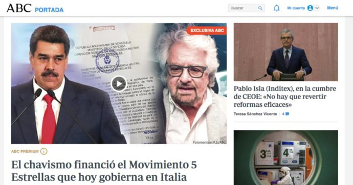 M5s, il giornale spagnolo Abc: 'Dal Venezuela di Chavez 3,5 milioni nel 2010'. Caracas: 'Menzogna della destra'. Casaleggio: 'Querelo'