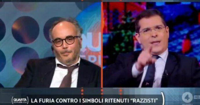 """Quarta Repubblica, Daniele Capezzone sbotta contro Christian Raimo: """"Sei proprio un co***e, un co***e con la patente"""""""