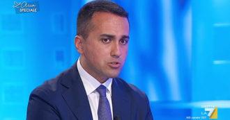 """M5s, Di Maio su La7: """"Congresso? Non credo che sia la priorità per l'Italia. Se Conte desse una mano al Movimento, sarei contento"""""""