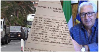 """Troppe code e lavori continui: il sindaco di Arenzano fa causa ad Autostrade e ministero. """"Per andare a Genova serve il triplo del tempo"""""""