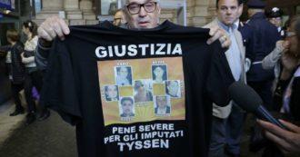 """Thyssen, i familiari delle vittime da Conte: """"Scriviamo lettera che premier darà a Merkel"""". Bonafede: """"Convocheremo ambasciatore"""""""