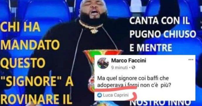"""Luca Caprini, il consigliere della Lega mette il """"like"""" ad un post in cui si inneggia ai forni crematori per Sergio Sylvestre. Poi le scuse: """"Errore ingiustificabile"""""""